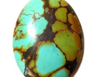40% Sale -- Turquoise , 35 x 48 mm Size, Cabochon stone, Oval Shape, 1 pc.