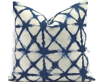 Pillow Covers Decorative Pillows ANY SIZE Pillow Cover Navy Blue Pillow Mill Creek Pembroy Ink