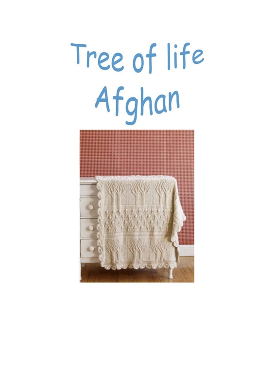 Afghan tree of life knitting pattern 99p