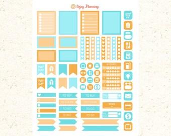 Printable stickers Erin Condren planner stickers and Happy Planner stickers January Stickers Kit Printable Planner Stickers  stickers ECLP