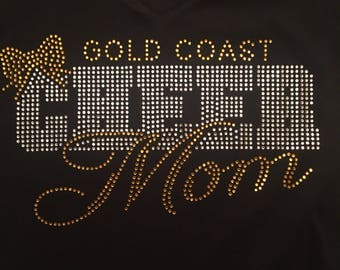 Cheer Mom Shirt - Long Sleeve V-Neck Fitted
