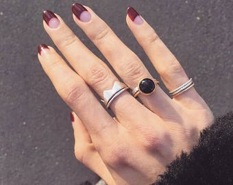 Crown Ring | in Sterling Silver or 18k Gold