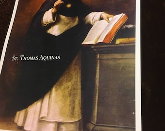 St. Thomas Aquinas Doctor of the Church Inspirational 11X17 inches Unique Poster
