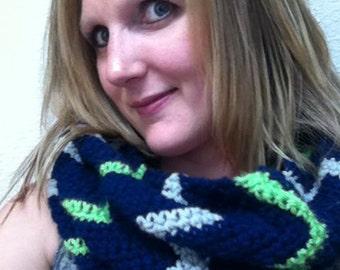 crochet chevron seahawks cowl