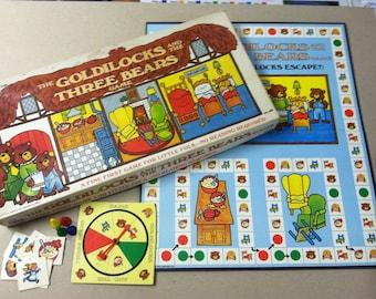 Vintage Goldilocks Three Bears Storybook Classic Board Game Complete Cadaco 1973