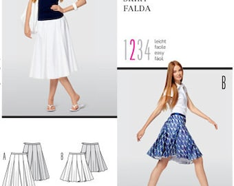Buda 7532 Size 8-20  Misses 8 panel with stitched godets Sewing Pattern / Uncut/FF