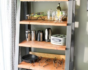 Industrial Ladder Shelf / Bookcase
