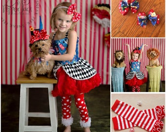 Circus Ringmaster pettiskirt, bow tie and skirted corset, Carnival tutu, circus outfit
