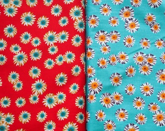 Sunflowers - red / Turquoise