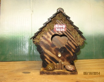 Rustic Love Nest Birdhouse From Reclaimed Wood