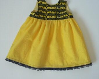 Star Wars Dress, 6/12 Month Dress, Baby Shower Gift, Star Wars Clothing