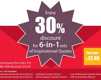 Inspirational Quotes 6-in-1 SPECIAL Set