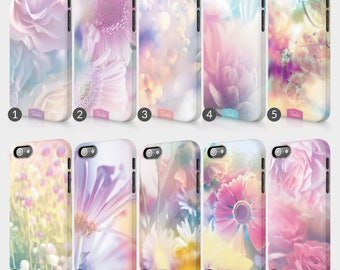 Floral Gradient Pastel Colours Flower Flowers Print Phone Case For HTC One Full Wrap Hard Cover Gift Daisy Vintage Retro Spring Cute