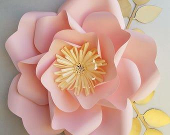 PDF paper flower template no.13, paper flower DIY, Paper flowers/Paper flower pattern/DIY decor/Birthday party/Wedding decoration