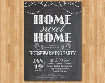 Housewarming Invitation New house invite Moving Invitations