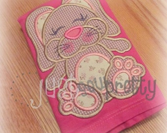 Flopsy Girl Easter Bunny Embroidery Applique Design