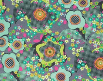 Jersey Amy Butler  Knits glow peace flower mist marine dots fabric ornament flowers