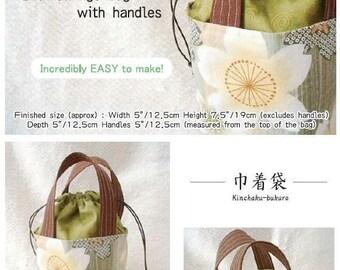 Pattern - Drawstrings bag with handles - PDF