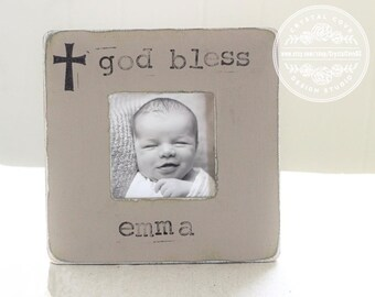 Baptism Gift Christening Gift Dedication Gift Personalized Picture Frame Godchild Godmother Godfather