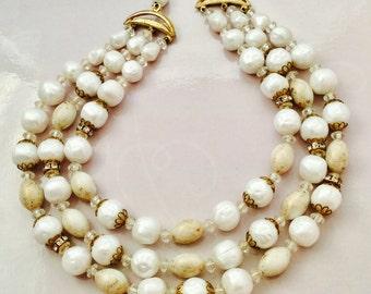 1950's Triple Strand Necklace