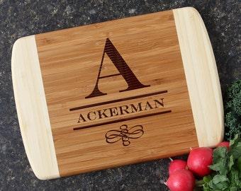 Cutting Board, Custom Engraved Cutting Board, Personalized Bamboo Cutting Boards, Personalized Wedding Gift, Housewarming Gift-10 x 7 D12