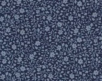 Bud Loop in Denim Blue   CX4594- BED OF Roses - Michael Miller Fabrics - By the Yard