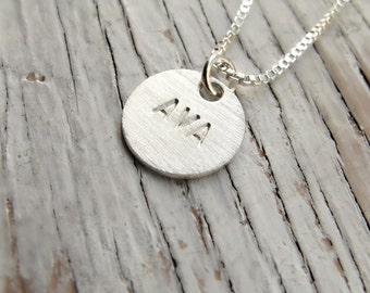 Personalized Mother's Necklace, Hand Stamped Jewelry, Kid's Name Necklace, Mother's Day Gift