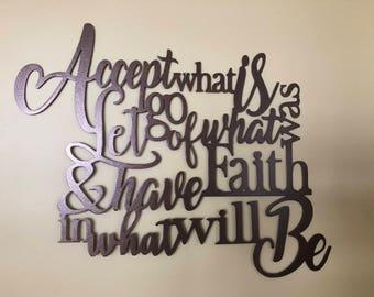 Inspirational Metal Wall Quote/Metal Wall Decor/Metal Wall Hanging/Birthday/Wedding/Anniversary/Housewarming Gift