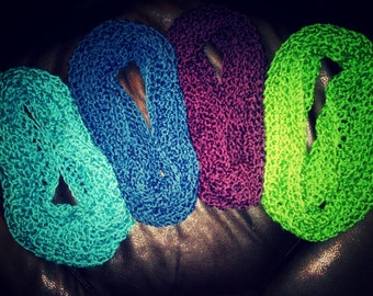 Infinity scarfs, Crocheted, gifts for her