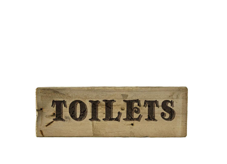 Toilet Sign Rustic Restroom Vintage Water Closet Door Toilet