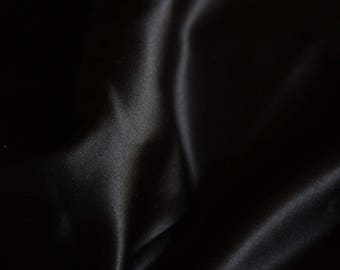 satin, thick, black, by 50 cm, polyester