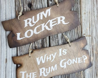 Wooden Vintage Pirate Signs