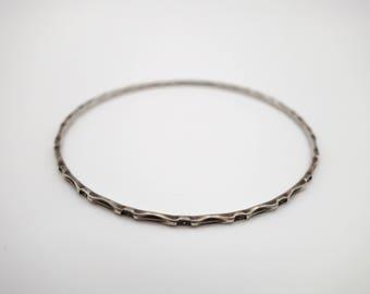 Sterling silver Art Deco bangle, sterling bangle, sterling bracelet, 1920's bangle, Art Deco bracelet, 925 bangle, 925 bracelet, flapper