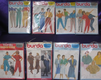 Vtge BURDA Sewing Patterns-70s-80s-Lot of 15-All Sizes-cut & uncut-complete