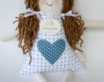 Handmade Personalized Doll, Child Friendly Doll with Yarn Hair, Hannah