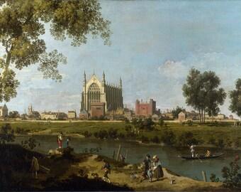 Canaletto: Eton College. Fine Art Print/Poster. (003450)
