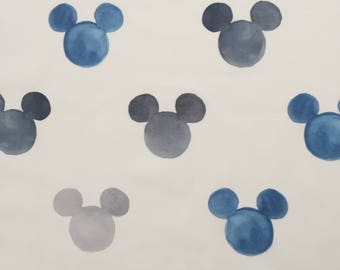 custom baby blanket ~ watercolor mickey ears ~ chic couture ~ baby accessories ~ custom made baby blanket from lillybelle designs