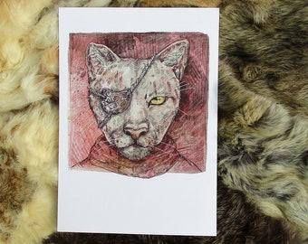 Cat. Fantasy illustration. A4 Artprint.