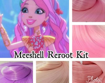 Ever After High Meeshell Mermaid Custom Doll Nylon Hair Re-root Pack Customizing your Doll INTL SHIP