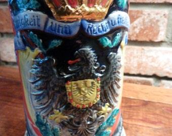 Vintage Handarbeit German Beer Stein Deutschland