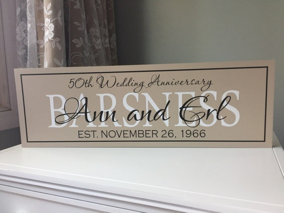 Gifts For 50th Wedding Anniversary For Parents: Items Similar To 50th Wedding Anniversary Signs