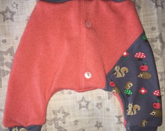 Cashmere Harem Baby Pants 0-3M - Ready to Ship