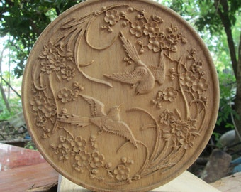 Wood carving-Wood discs carving-Wood Circles-Wooden carving-Wooden discs carving-Wood art