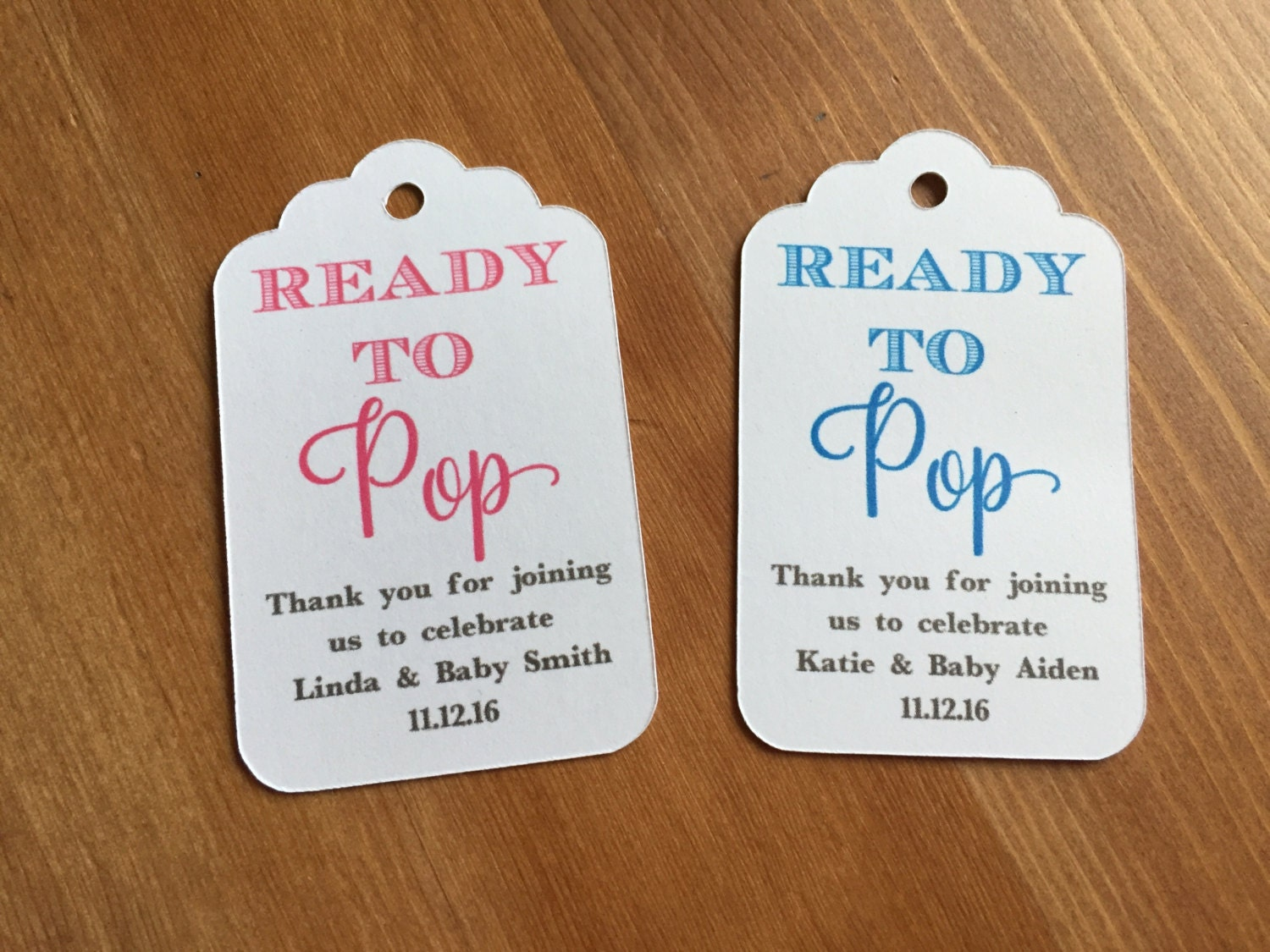 Baby Shower Favors About To Pop ~ Ready to pop baby shower favor tags popcorn