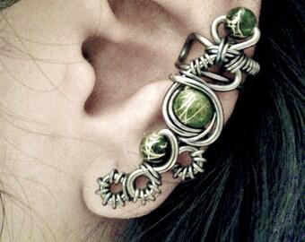 Evil Eye Ear Cuff - Macabre and Cyberpunk inspired cartilage cuff