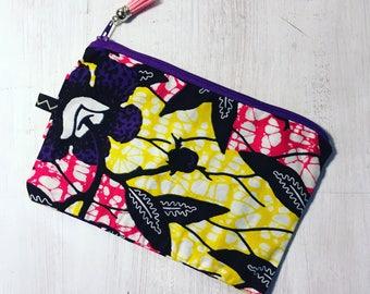 Pouch case bag fabric wax original gift idea 21 x 14 grawoulwax