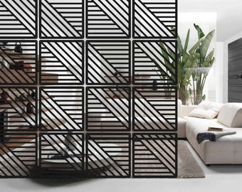 architectural room dividers. Room Divider  Interior partition decor Hanging screen 12 pieces divider Etsy