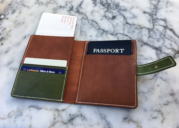 Leather Passport Cover, Leather passport Holder, Travel Document Cover, Handmade Passport Cover