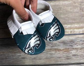 Philadelphia Eagles Baby Shoes Moccasins