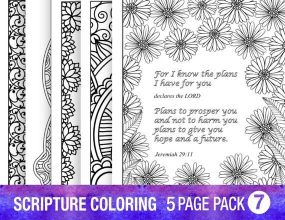 Verso 5 dibujos Biblia para colorear establece a citas de
